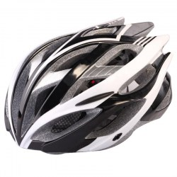 Outdoor Goods Protective Helmet Safety Helmet Unibody Cycling Helmet 002 Black+White