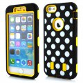 Phone Case for iphone6 Plus(5.5) PC Wave Point Yellow