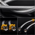 Faucet Connector Braided Stainless Steel Hose Female Straight Thread Faucet Hose 120cm