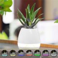 Flowerpot Bluetooth Speaker Night Light Touch Control Wireless Speaker White