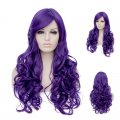 Long Curly Hair Wigs A42 LW1559 Purple