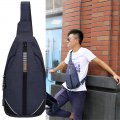 Men's Chest Bag Anti Theft Shoulder Bag CS3 Casual Style Chest Bag Blue