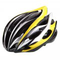 Outdoor Goods Protective Helmet Safety Helmet Unibody Cycling Helmet H015 Yellow with Black