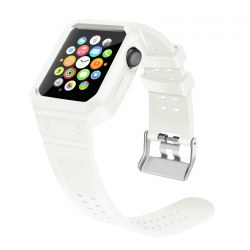 Watchband for Apple Watch 42mm Protective Case Watchband White