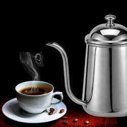 Pour Over Coffee Kettle 304 Stainless Steel Narrow Spout 650ml CF0071 Mirror Surface