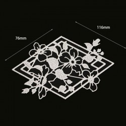 Diamond Shape Flower Lace Cutting Dies Metal Cutting Dies Scrapbooking Dies