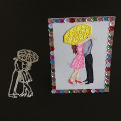 Cute Umbrella Lovers DIY Metal Cutting Dies for Scrapbooking Photo Album