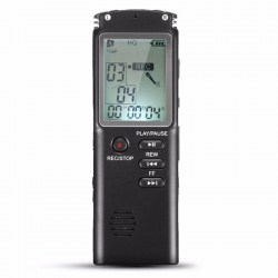 8GB Rechargeable LCD Screen Digital Audio Sound Voice Recorder Dictaphone