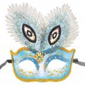 Women's Pretty Masquerade Mask Color Painted Blue