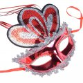 Women's Pretty Masquerade Mask Color feathers Red