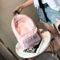Korean Style Fashion Students Backpack Pink