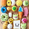 Random 20pcs Slow Rising Squishies Cream Scented Kawaii Simulation Bread Dessert Soft Squishy Cake