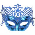 Pretty Charming Masquerade Mask Crown with Color Blue