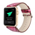 Watch Band Watchband for Apple Watch1/2 Iwatch National Style with Lugs 42mm Colorful Rose Red