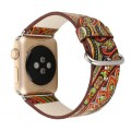 Watch Band Watchband for Apple Watch1/2 Iwatch National Style with Lugs 38mm Colorful Rose Red