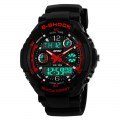 Multi-Function Dual Display Digital Watch Wrist Watch 0931 Red