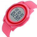 1206 Men's Fashion and Sports Waterproof Watch Rose Red