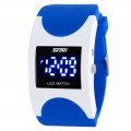 Fashionable Arc-Shaped LED Watch Sport Wrist Watch 0951 Blue