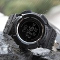 Multifunction Compass Outdoor Sports World-time Electronic Men's Watch 1300 Black