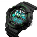 Sports Watch Waterproof Electronic Watch Multifunctional Men's Watch 1312 Green