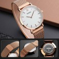 Fashion Couple Watch Simple Magnetic Watch Business Casual Watch 1318 Men's Rose Gold