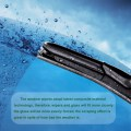 Car Windshield Wiper Blades General U Type 21/16 inch Set of 2