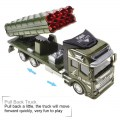 RNC Toy Military Truck Pull Back Alloy Truck Toy 1:48 Missile Truck