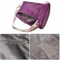 Korean College Style Nylon Three-piece Backpack Purple