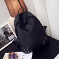 Woman Cross Nail Backpack Black
