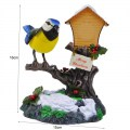 Creative Singing Birds in the Garden Voice Control Sound Light Colorful