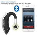 E1 Bluetooth Earphone Headset Rotatable Design Silver+Black