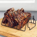 Home Restaurant Rib Rack Non Stick Outdoor Grilling BBQ Chicken Beef Stand