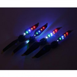 2 Pairs LED Flash Low-Noise Quick Release CW CCW Propellers for DJI Mavic Pro