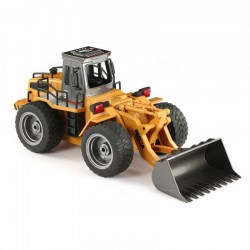 HUINA 1520 6CH RC Metal Bulldozer 1/18 2.4GHz RTR Front Loader Engineering Toy