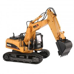 HUINA 1350 1/14 15CH RC Excavator Truck Construction Engineering Vehicle Toy