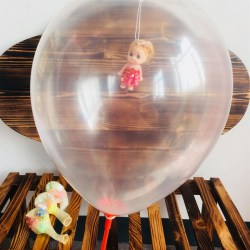 36 Inch Round Shape Baby Doll Party Clear Balloon for Valentines Day Wedding