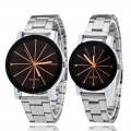 Steel Wristband Quartz Movement Boys Girls Wristwatch Lover Gift Wrist Watch