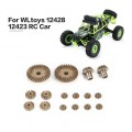 12 24 30T Diff.Main Metal Gear Repair Parts for WLtoys 12428 12423 1/12 RC Car