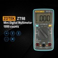 ZT98 Mini Digital Multimeter 1999 counts AC/DC Ammeter Voltmeter