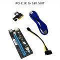 PCI Express 1X to 16X Riser Card PCIE 1X to 16X Suit with 60cm USB 3.0 Cable
