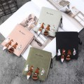 Fashion Women Wallet Animals Embroidery Leather Purse Hasp Zipper Card Holder