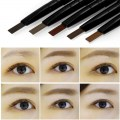 Double Head Eyebrow Pencil Rotation Waterproof With Brush Beauty Makeup Tool