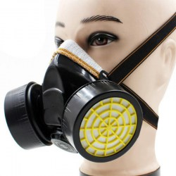Dual Cartridge Anti-Dust Mask Chemical Safety Painting Gas Filter Respirator