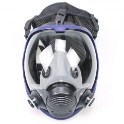 Full Face Respirator Anti-dust Chemical Safety Gas Mask with Cotton Filter