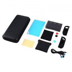 13 in 1 Super Kit LCD Film Silicone Case Card Case with Carry Case for Switch