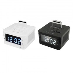 K7 Bluetooth Speaker Clock Handsfree SNOOZE SLEEP AUX Alarm LCD Clock Radio