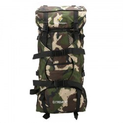 90L Men Women Durable Nylon Camouflage Hiking Climbing Backpack Rucksack