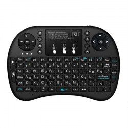 Rii Mini i8+ Hebrew Language 2.4GHz Mini Wireless Keyboard With Touch Pad
