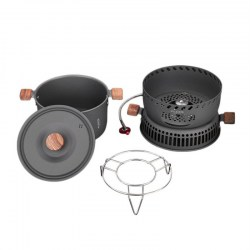ALOCS CW-C33 Wind Proof Gas Stove Pot Portable Camping Picnic Cookware Set