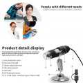 2MP 3-in-1 Type-C/Micro USB/USB HD Digital Microscope 1000X Magnification